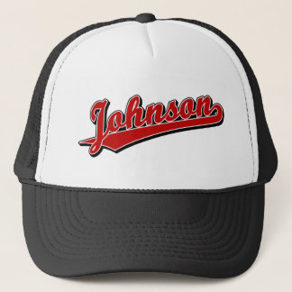 Johnson in Red Trucker Hat