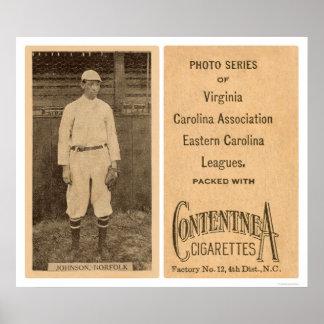 Johnson Norfolk Baseball 1910 Poster