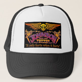 johnson tattoo trucker hat