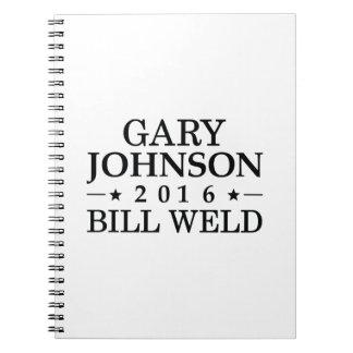 Johnson Weld 2016 Spiral Note Books