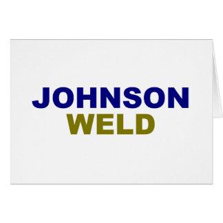 Johnson-Weld dark text Card