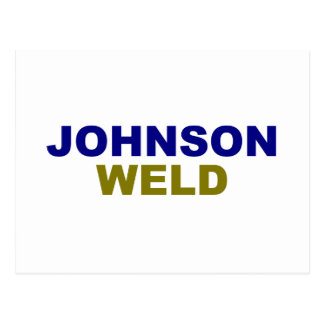 Johnson-Weld dark text Postcard