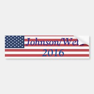 Johnson/Weld in 2016 Bumper Sticker