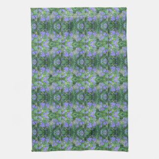Johnson's Blue Perennial Geranium kitchen towel