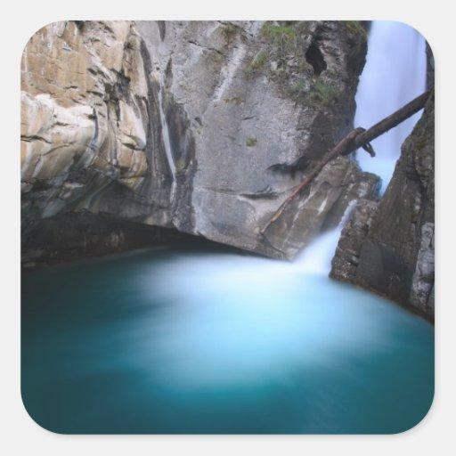 Johnston Canyon-Lower Falls Banff Alberta Canada Square Sticker