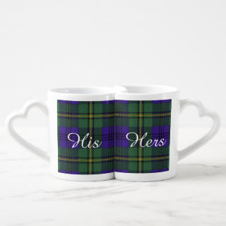 Johnston clan Plaid Scottish tartan Coffee Mug Set
