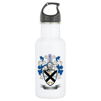 Johnston Family Crest Coat of Arms 532 Ml Water Bottle