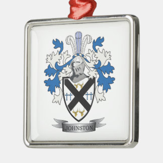 Johnston Family Crest Coat of Arms Metal Ornament
