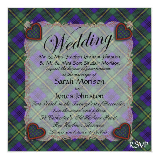 Johnston Scottish clan tartan - Plaid Card