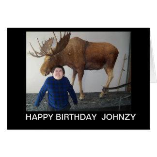 JOHNZY BIRTHDAY CARD
