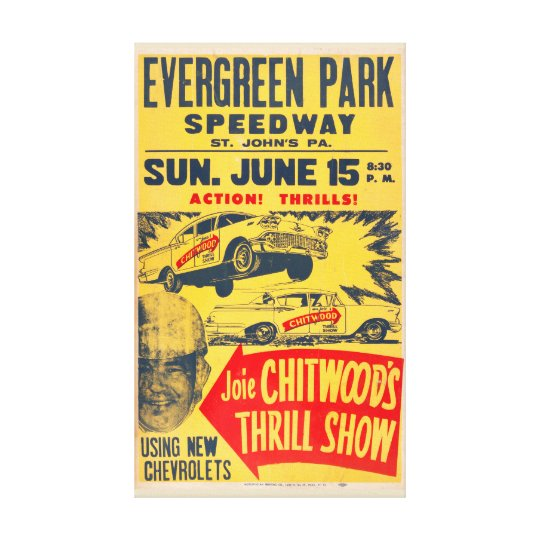 Joie Chitwood Thrill Show Canvas Art Print