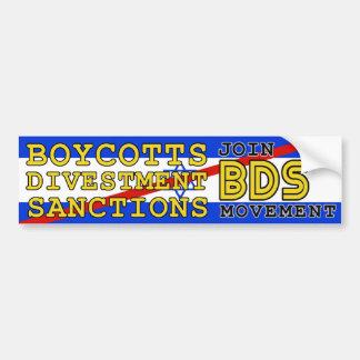 Joignez le boycott Israël de mouvement de BDS Autocollant De Voiture
