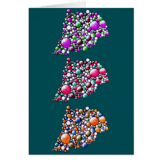 Join - greeting card with customisable bubble art
