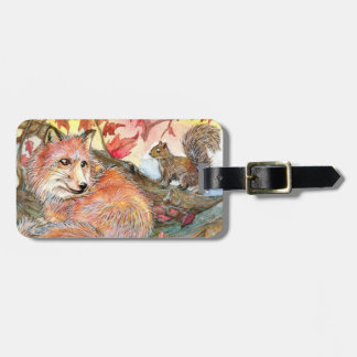 Join Me For A Nap With Fox And Squirrel Luggage Tag