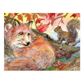 Join Me For A Nap With Fox And Squirrel Postcard