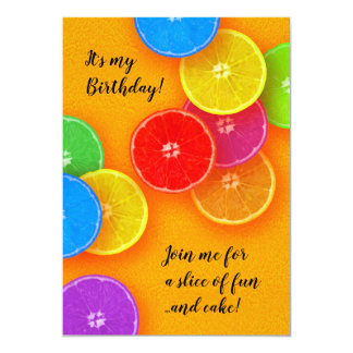 Join me for a slice of fun and cake Birthday Party Card