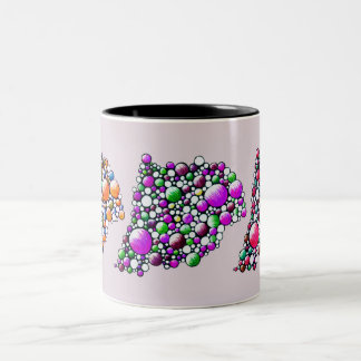 Join - mug with colorful space bubble design