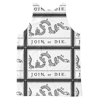 Join or Die - American Revolution - B Franklin All-Over-Print Tank Top