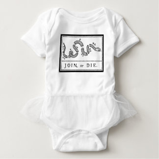 Join or Die - American Revolution - B Franklin Baby Bodysuit