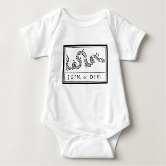 Join or Die - American Revolution - B Franklin Baby Bodysuit