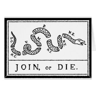 Join or Die - American Revolution - B Franklin Card