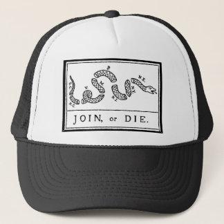 Join or Die - American Revolution - B Franklin Trucker Hat