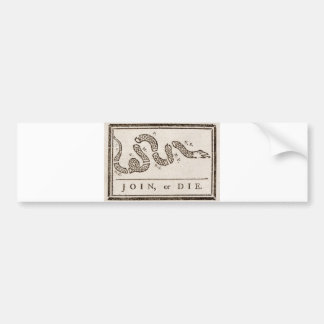 Join, or Die Flag Bumper Sticker
