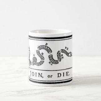 Join or Die Flag for American Revolutionary War Coffee Mug