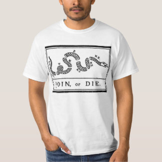 Join or Die Flag from American Revolutionary War T-Shirt