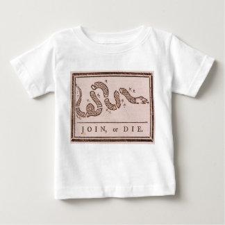 Join or Die ORIGINAL Benjamin Franklin Cartoon Baby T-Shirt