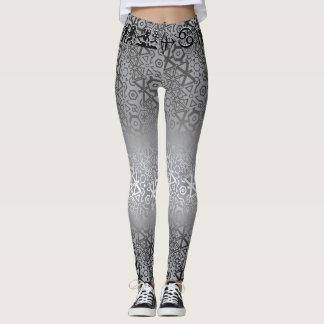 Join or Die Shiny Silver Leggings