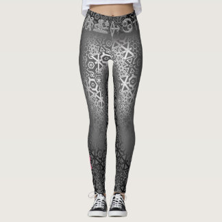 Join or Die Silver Cancer Ribbon Leggings