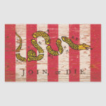 Join or Die Sons of Liberty Flag Stickers