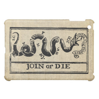 Join Or Die Woodcut on Declaration of Independence iPad Mini Covers