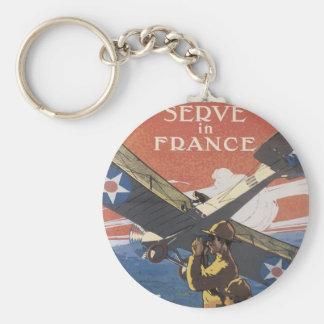 """Join the Air Service"" circa 1917 Basic Round Button Keychain"