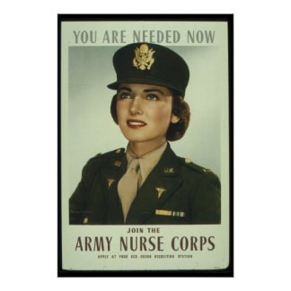 Join The Army Nurse Corps World War II Propaganda Poster