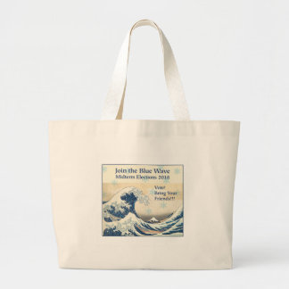 Join the Blue Wave 2018 Large Tote Bag