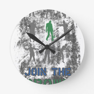 Join The Crowd Zombie Dead Skull Clock
