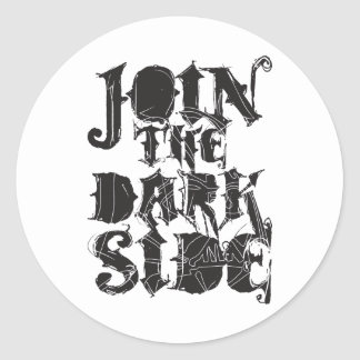 Join The Dark Side Classic Round Sticker