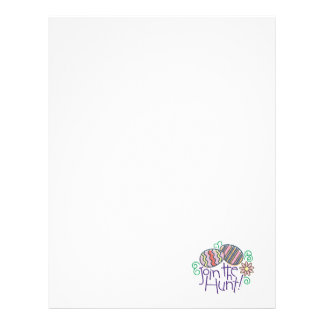 join the easter egg hunt letterhead
