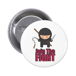 Join The Fight Against Breast Cancer 2 Inch Round Button