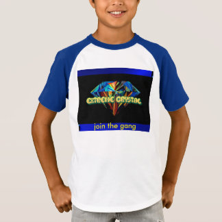 join the gang extreme crystal v-neck kids t-shirt