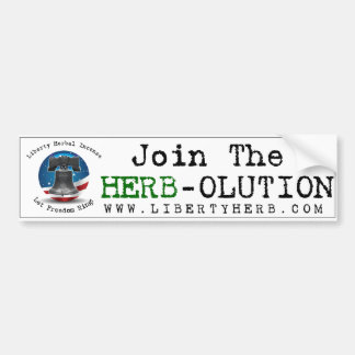 Join the Herb-olution Bumper Sticker