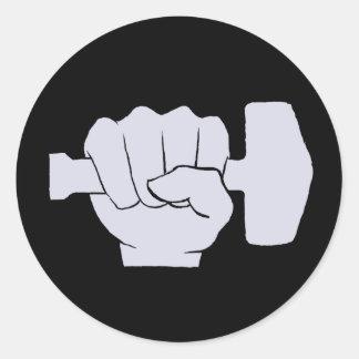 Join the Norseman Revolution /Blk Round Sticker