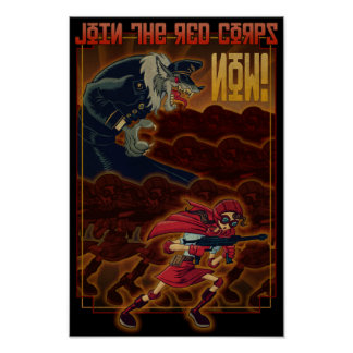 Join The Red Corps Poster