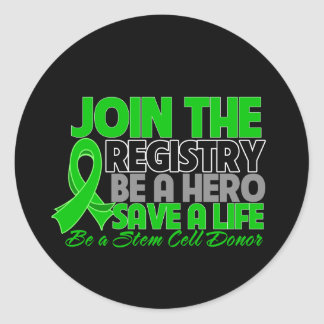Join The Registry Be a Stem Cell Donor Hero Stickers