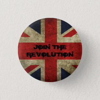 Join The Revolution - Old Union Flag Badge 1 Inch Round Button