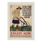 Join the School Garden Army Poster