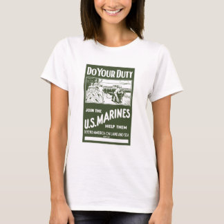 Join The US Marines -- WW2 T-Shirt
