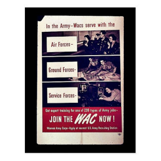 Join The Wac Now Post Card